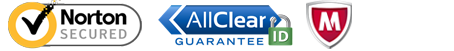 Allclear, Mcafee, Norton Secure
